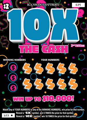 10X THE CASH 2nd EDITION Ticket Art
