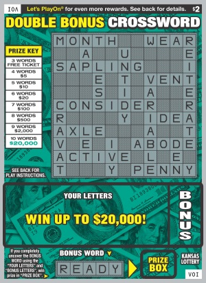 DOUBLE BONUS CROSSWORD Ticket Art
