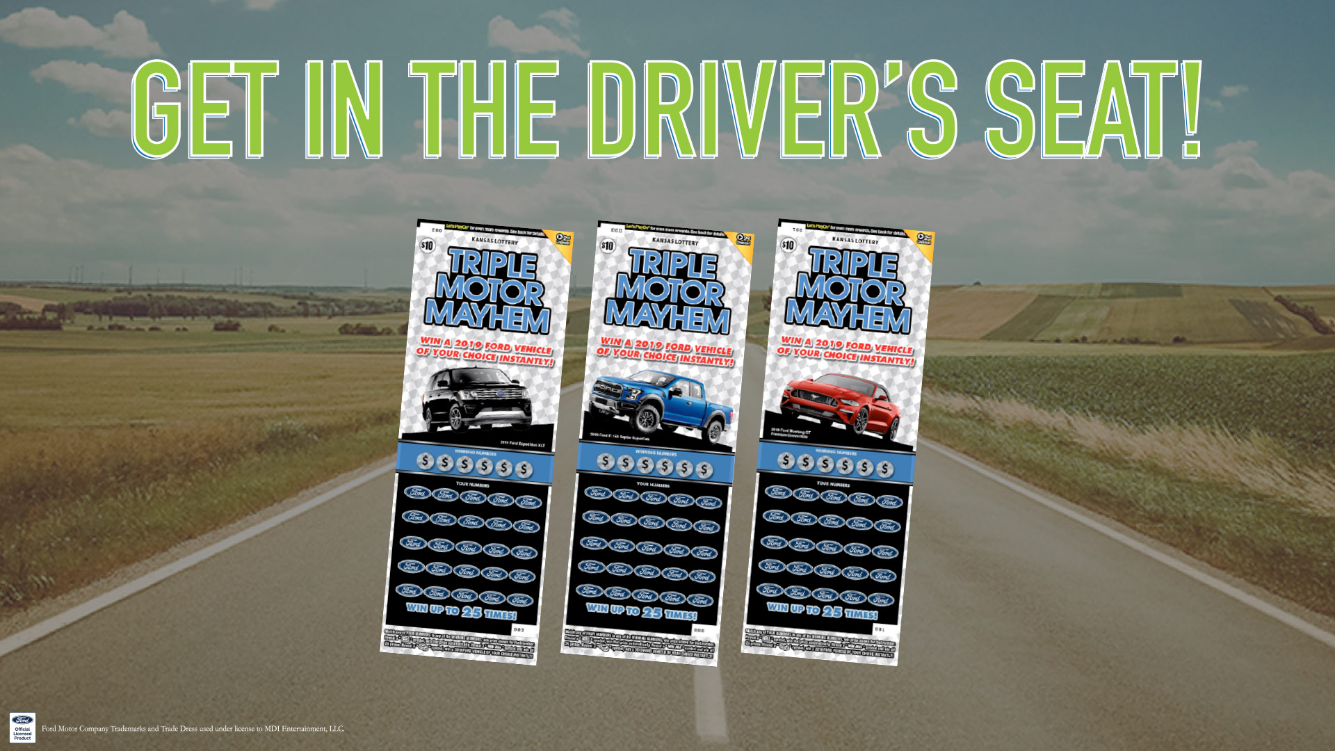 Win a Ford vehicle of your choice with Triple Motor Mayhem